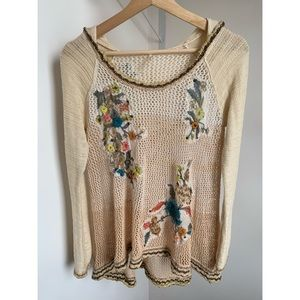 Free People • S • 'Menagerie' embroidered crochet